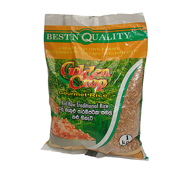 Red Raw Traditional Rice( Kalu Heeneti)PKT- 1kg